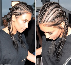 kim kardashian cornrow fashion and cultural appropriation lipstick and labels